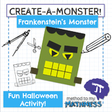 Halloween Math in Art Activity CREATE A MONSTER Frankenstein's Monster