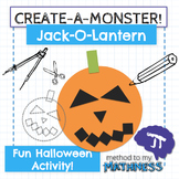 Halloween Math in Art Activity CREATE A MONSTER Jack-O-Lantern