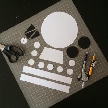 Halloween Math in Art Activity CREATE A MONSTER Skull and Bones