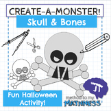 Halloween Math in Art Activity CREATE A MONSTER Skull and Bones
