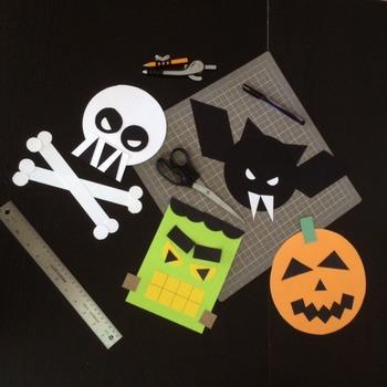Halloween Math in Art Activity CREATE A MONSTER Vampire Bat