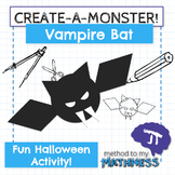 Halloween Math in Art Activity CREATE A MONSTER Vampire Bat