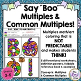 Halloween Math and Halloween Coloring - Multiples and Common Multiples