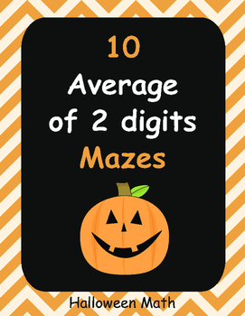 Halloween Math: Average of 2 digits Maze
