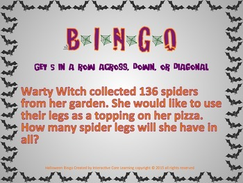 Halloween Math BINGO and Worksheets Bundle