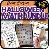 Halloween Math Bargain Bundle Worksheets Activities Coordinates PBL Algebra
