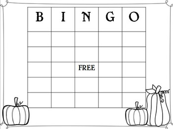 Halloween Math Bingo