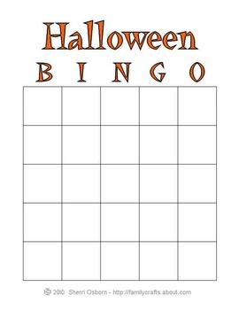 Halloween Math Bingo Answers