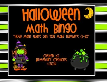 Halloween Math Bingo! How many ways can you make the number 0-10