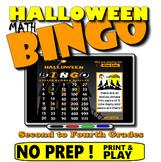 Halloween Math Bingo with Online Bingo Caller