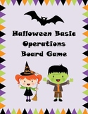 Halloween Math Board Game - Basic Operations
