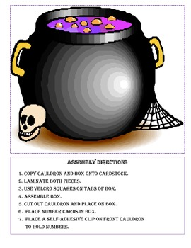 Halloween - Math Brew Some Addition Facts