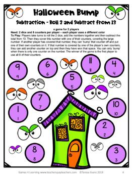 Halloween Math Games Freebie: Fun Halloween Math Activities by ...