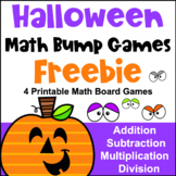 Halloween Free Math Games: Fun Halloween Math Activities: Halloween Bump Games