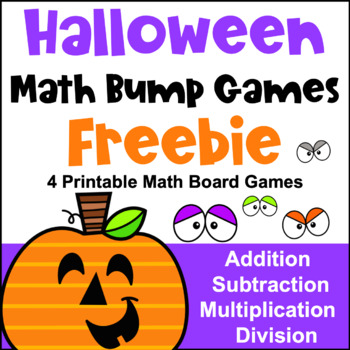 picture regarding Free Printable Maths Games named Totally free Halloween Math Video games: Halloween Bump Online games for Addition and Subtraction
