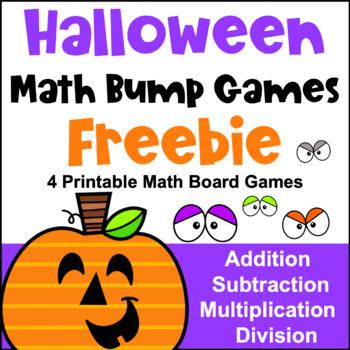 Halloween Math Games Freebie: Fun Halloween Math Activities
