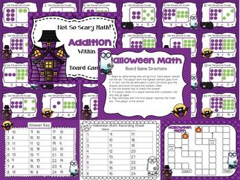 Halloween Math Centers 1st Grade