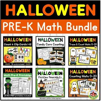Halloween Math Bundle Preschool and Kindergarten