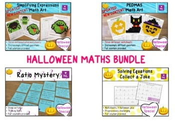 BUNDLE Halloween Math