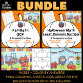 Halloween Math Bundle: Greatest Common Factor & Least Comm