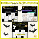 Halloween Math Bundle: Telling Time, Addition, Subtraction