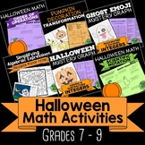 Halloween Math Activities for 7th, 8th, 9th Grade