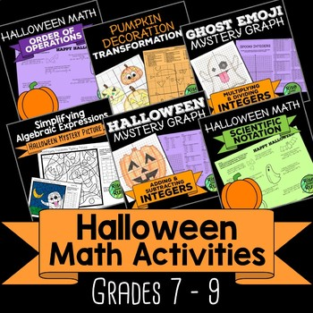 Halloween Math Activities For 7th 8th 9th Grade