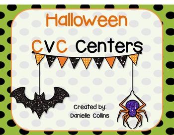 Halloween Math & CVC Centers (13 CCSS Centers)