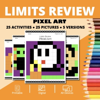 Halloween Math: Calculus - Limits Pixel Art Mystery Pictures