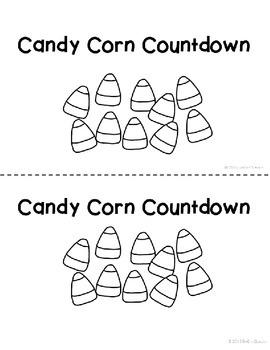 Halloween Math Candy Corn Countdown Kindergarten