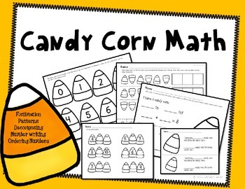 Halloween Math Candy Corn Kindergarten