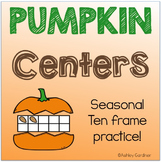 October Math Center for Kindergarten {Fall Math Centers for Kindergarten}