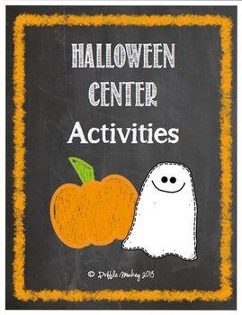Halloween Math Center Activities