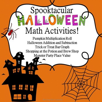 Halloween Math Center Activities