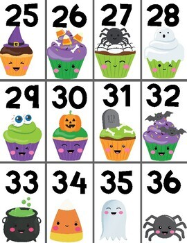 Halloween Math Center - Beads