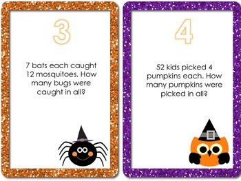 Halloween Math Center Cards - Common Core Aligned