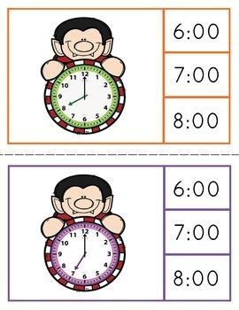 Halloween Math Center Clip Cards 12 Sets NO PREP PRINT & GO