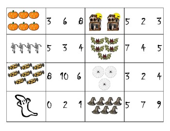 Halloween Math Center: Count and Clip!