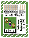 Halloween Math Center Counting 0 to 20 Clothes Pin Clip Cards ~ 24 Cards