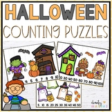 Halloween Math Center Counting Puzzles {FREEBIE}