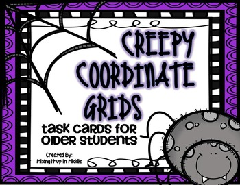 Halloween Math Center:  Creepy Coordinate Grids for Older Students