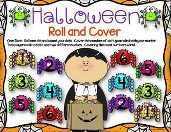 Halloween Math Center Dice Games