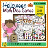 Halloween Math Center Dice Games