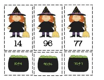 Halloween Math Centers Freebie