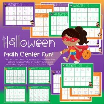 Halloween Math Center Games and Activities