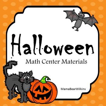 Halloween Math Center Materials