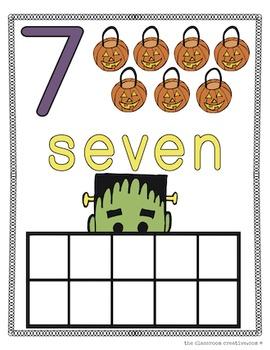 Halloween Math Center Mats: Play Dough, Manipulative Play, and More!