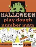 Halloween Math Center Mats: Play Dough, Manipulative Play,