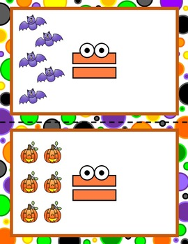 Halloween Math Center; More, Less, the Same! Comparing Quantities