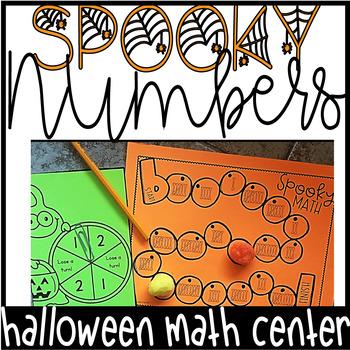 Halloween Math Center- Number Sense Board Game